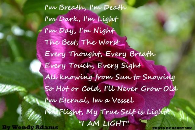 I AM LIGHT.... BY WENDY ADAMS